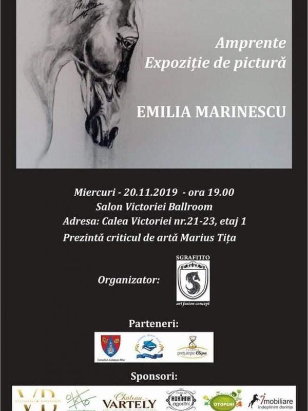 """Expoziția de pictură """"AMPRENTE"""" – Emilia Marinescu"""